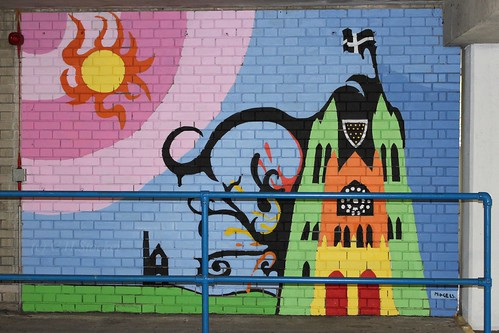 Mural at High Cross (NCP) Car Park , Truro by Stocker Images