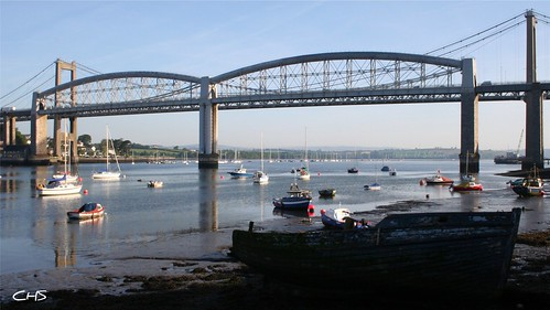 Tamar Bridges, crossing between Saltash and Plymouth by Stocker Images