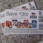 Elusive Quaker Tearpad Coupon for $3.00 off when you buy any 5 Quaker products