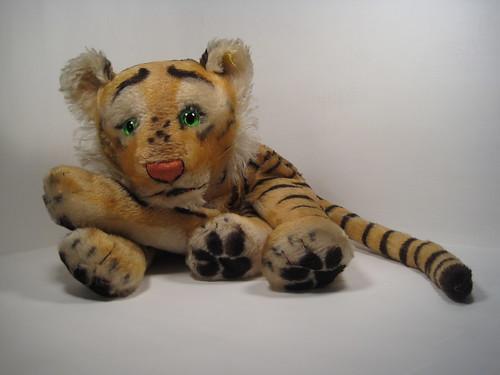 Rare Vintage Steiff Mohair Tiger Pajama Bag