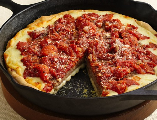 Deep-Dish Sausage Patty Pizza Recipe