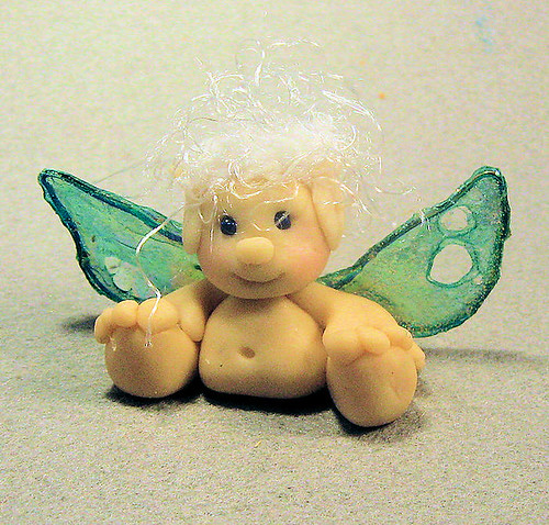 Fairy figurine, Baby Fairy with Irridescent Wings