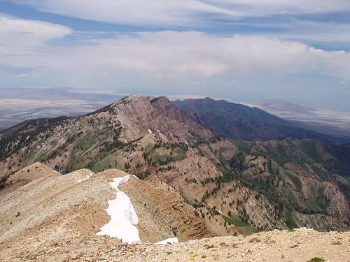 Looking north toward the Great Salt Lake along the Deseret Peak  ridge.