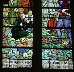 vitrail de l'église de la voute chillac