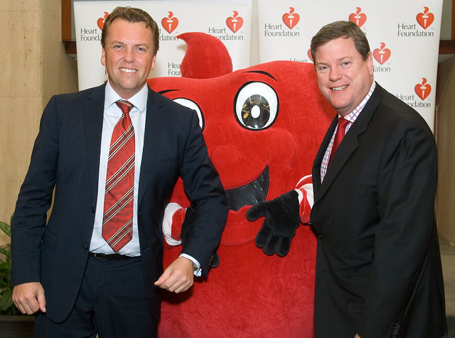 Scott Emerson MP & Tim Nicholls MP & Happy Heart Go Red for Women 18 May 2010