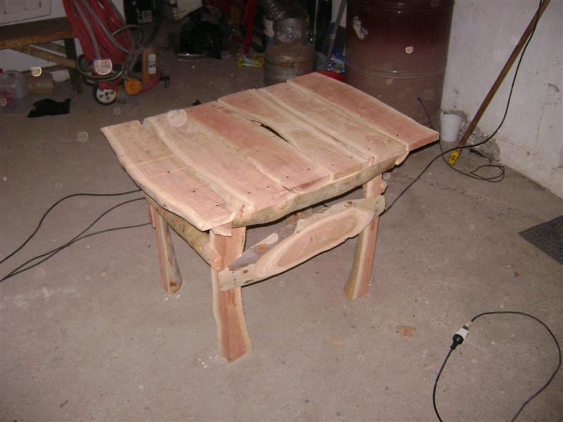 como hacer una mesa de jardin rustica con 4 troncos taringa