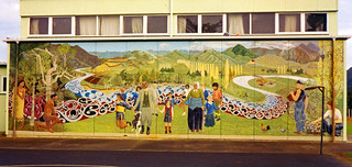 District history mural, Broadwood Area School, Northland, New Zealand 1993