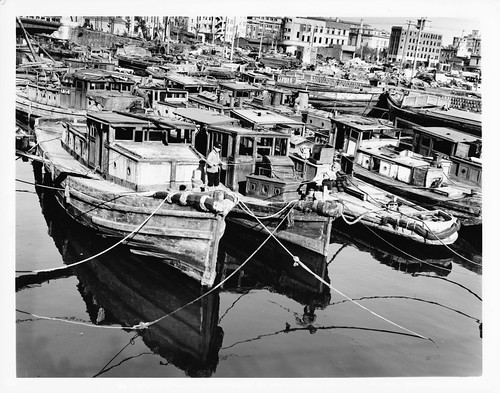 Fishing Boats in  Yokahama Harbor by Ohio University Libraries