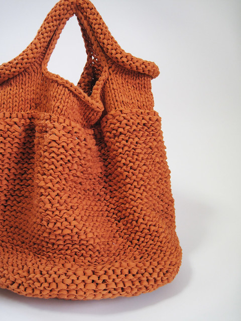 Handbag Knitting Patterns : HAND KNIT BAG/ORANGE Flickr - Photo Sharing!