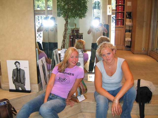 Angela & Chelsea, Shopping in Paris with the London Boys