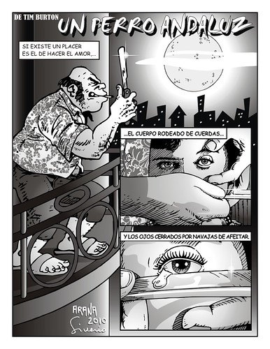 Un Perro Andaluz, the millionaire comic of Tim Burton by Niño Jesús