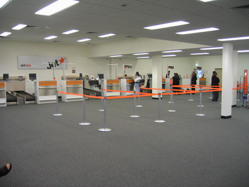 Jetstar check-in counters at Avalon Airport