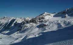 mountain, winter, piste, snow, mountain range, cirque, summit, ridge, massif, mountainous landforms,