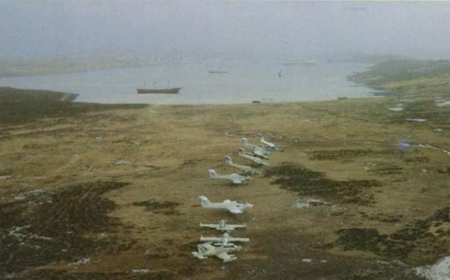 Τα Pucaras στις νήσους Μαλβίνες.