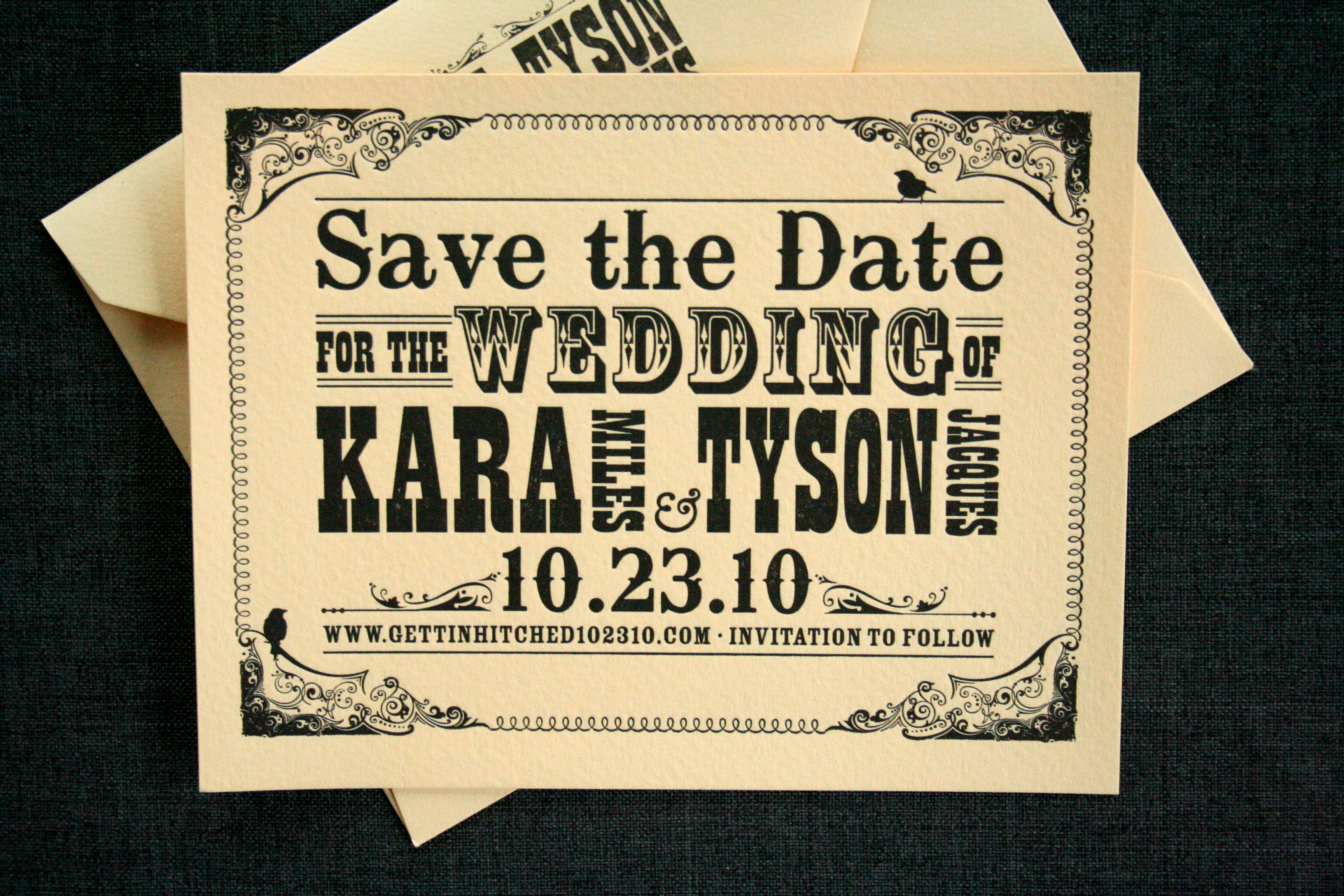 Typography Inspired Wedding Invitations Flickr Photo