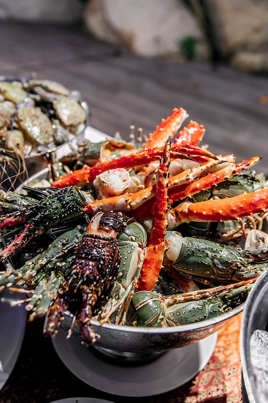 seafood buffet in Ko Samui, the luxury collection, Starwood