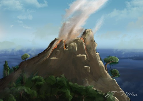 Volcano Photoshop Painting
