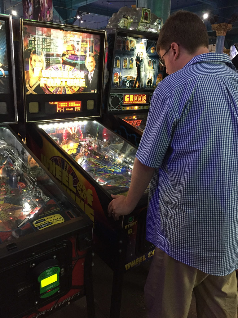 Ken Playing Pinball