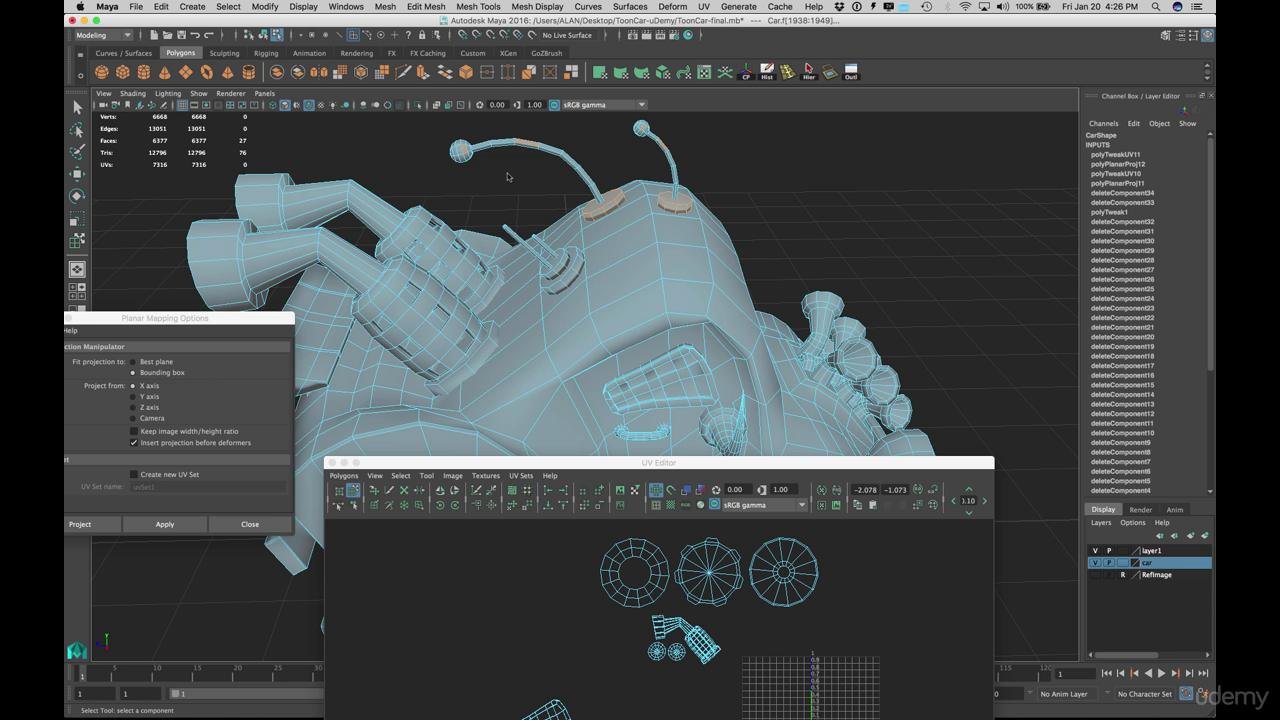 Learn to Model a Cartoon Car in Maya