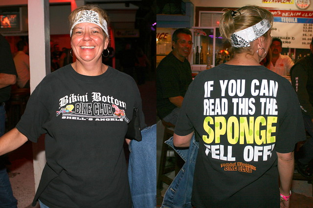... a spoof of a shirt that says,