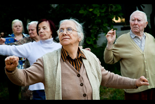 seniors practicing Tai Chi for longevity