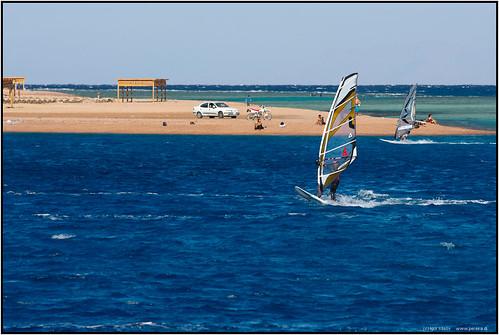 Igor Klisov's photo of Dahab wind-surfers.