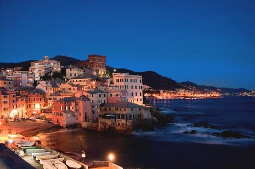 blue light sea sky italy seascape colour night italia cityscape nocturnal nightshot liguria genoa boccadasse theperfectphotographer genoav