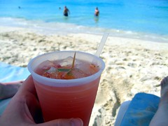 the obligatory rum punch shot