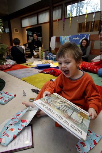hereditary gift opening behavior   just like his mom and his grandpa