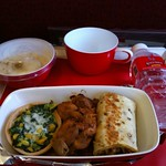 airline meal on Kingfisher Airlines
