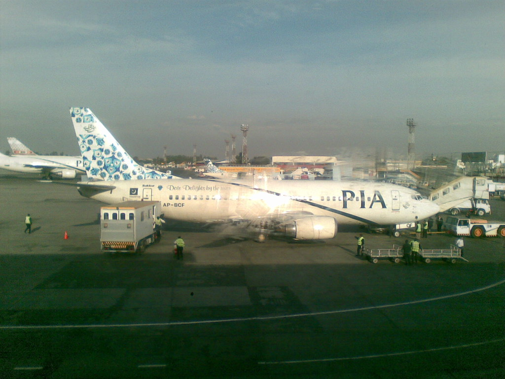PIA Plane at ISB Airport