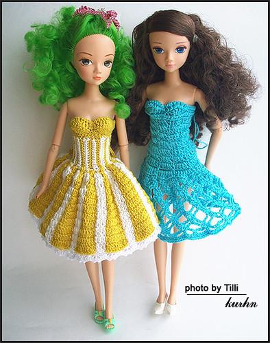 Вечернее платье для кукол барби своими руками 2