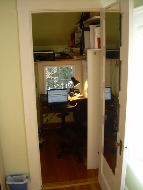 converted closet home office