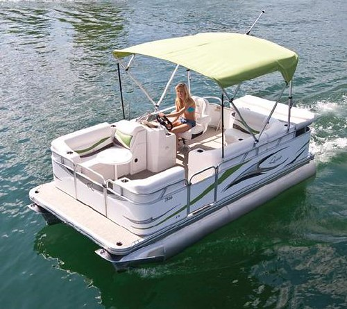 7516 C Small Electric Pontoon Boat Flickr Photo Sharing
