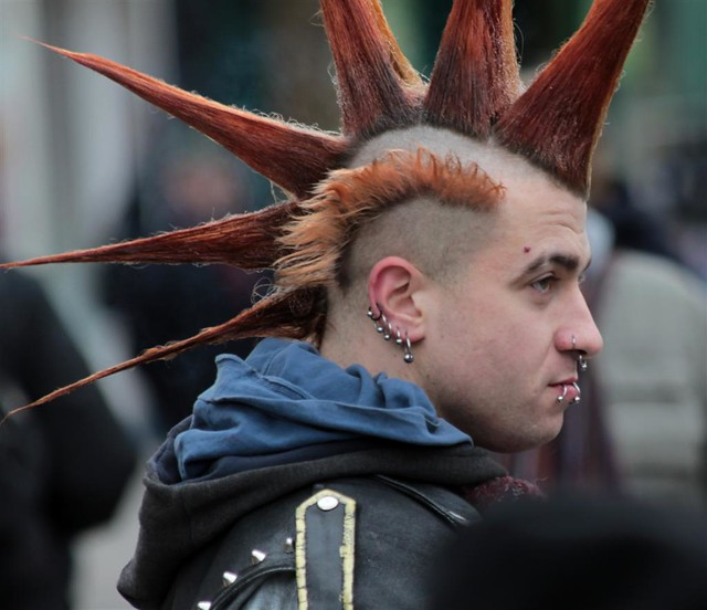 Cool Spike Mohican By The T Shirt Market E