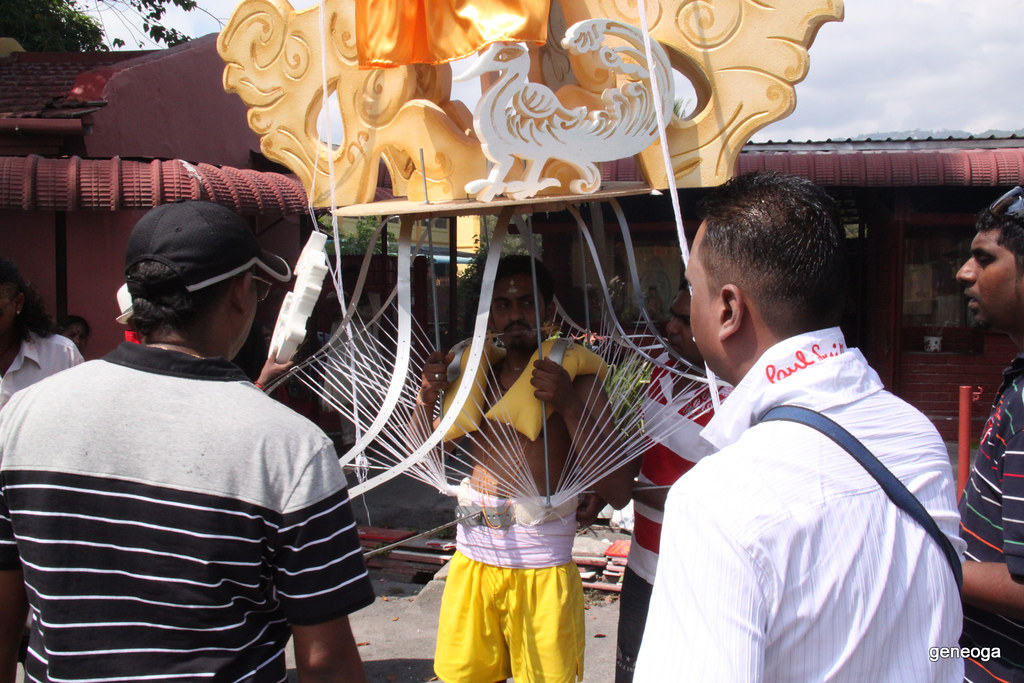 All set carrying the Kavadi