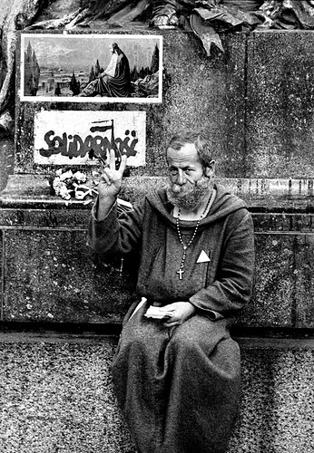 Catholic Priest & Solidarity, Krakow, Poland