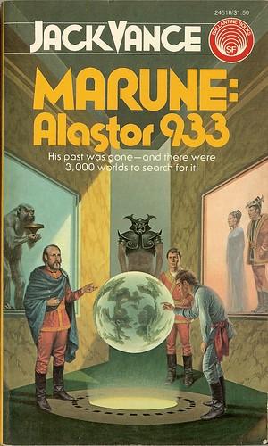 Jack Vance - Marune Alastor 933 - cover artist Darrell Sweet - 1st book publication - Ballantine September 1975 - reviewed