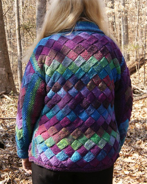 Entrelac Knitting Patterns Sweater : Entrelac Noro Sweater Flickr - Photo Sharing!