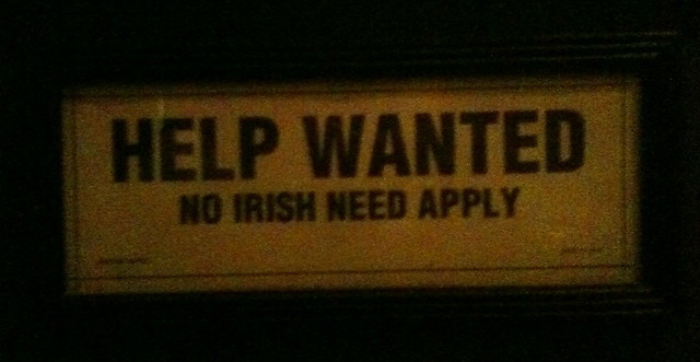 Irish need not apply
