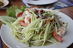 salad, vegetable, thai food, green papaya salad, food, dish, cuisine,