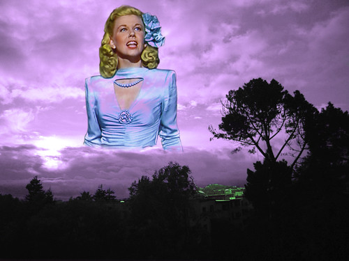 Movie Star/Singer Doris Day Rises Out of the Clouds Above Bernal Heights