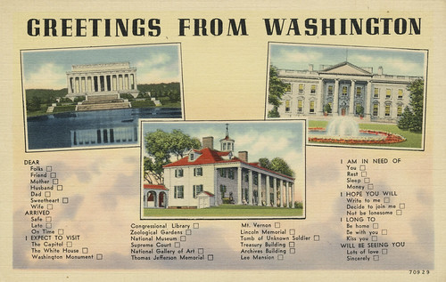 Greetings from Washington DC (c. 1930s)