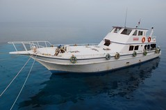 Old liveaboard boat