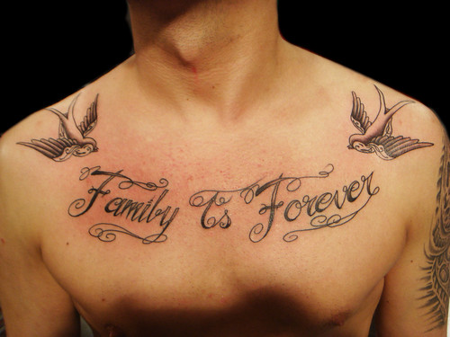 Family Is Forever Lettering Tattoo A Photo On Flickriver