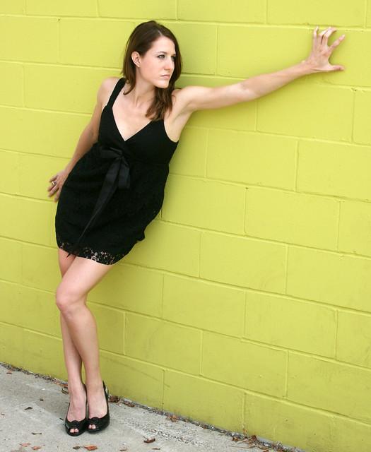 Sexy Model Beautiful Woman Little Black Dress