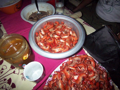 Matamis na Bao/Kalamay-Hati being packed with seafoods