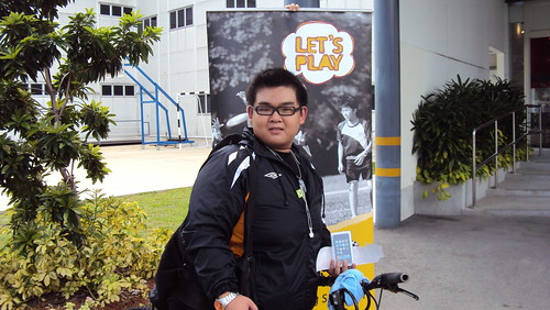 Cycled to Singapore Sports Council