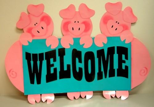 Welcome Piggies