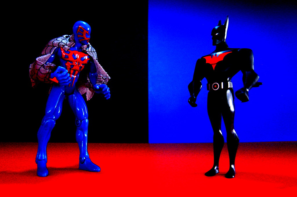 Spider-Man 2099 vs. Batman Beyond (113/365)